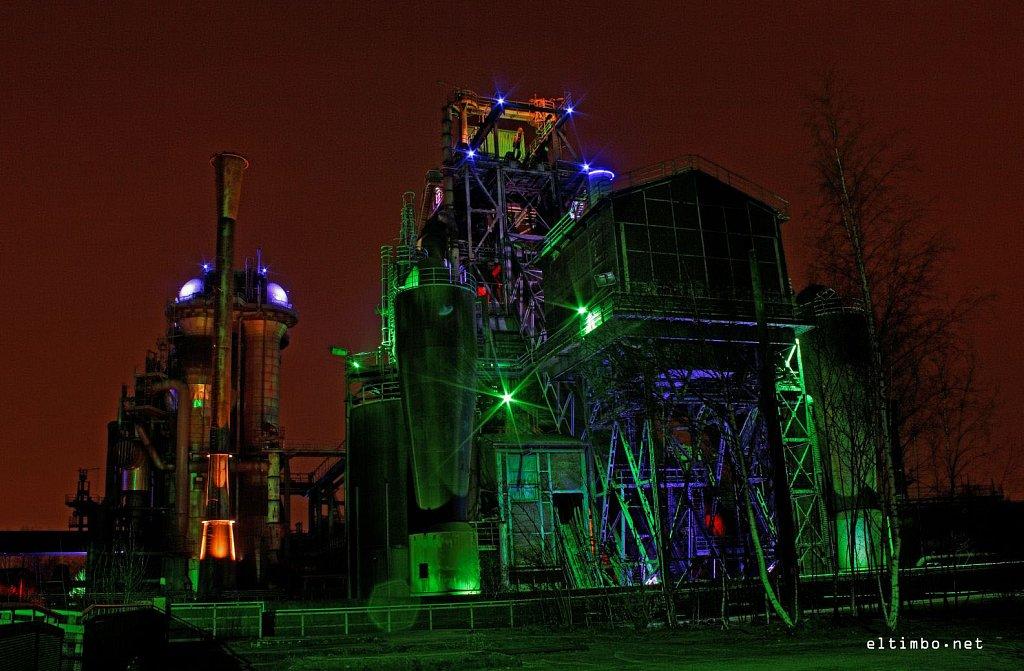 Lanschaftspark Duisburg - bei Nacht